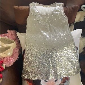 Lady's World silver Sequin dress/tunic